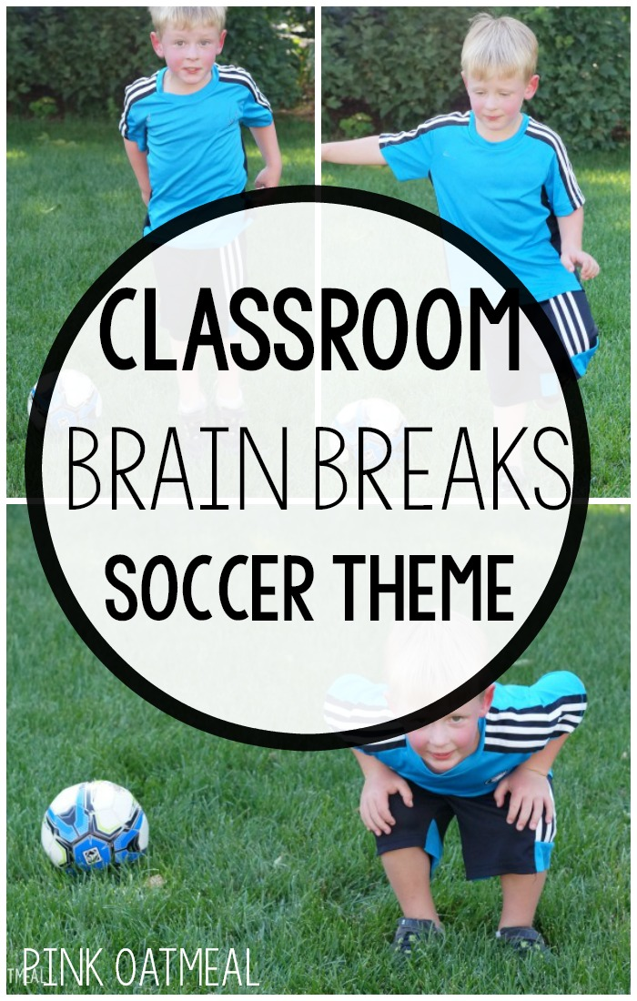 Classroom Brain Breaks with A Soccer Theme! The perfect soccer themed activity that promotes physical activity in the classroom. Use this in physical education, for a classroom brain break, OT, PT, SLP, or at home. These are perfect for World Cup time, with a soccer theme and the best part is they can be used year round!