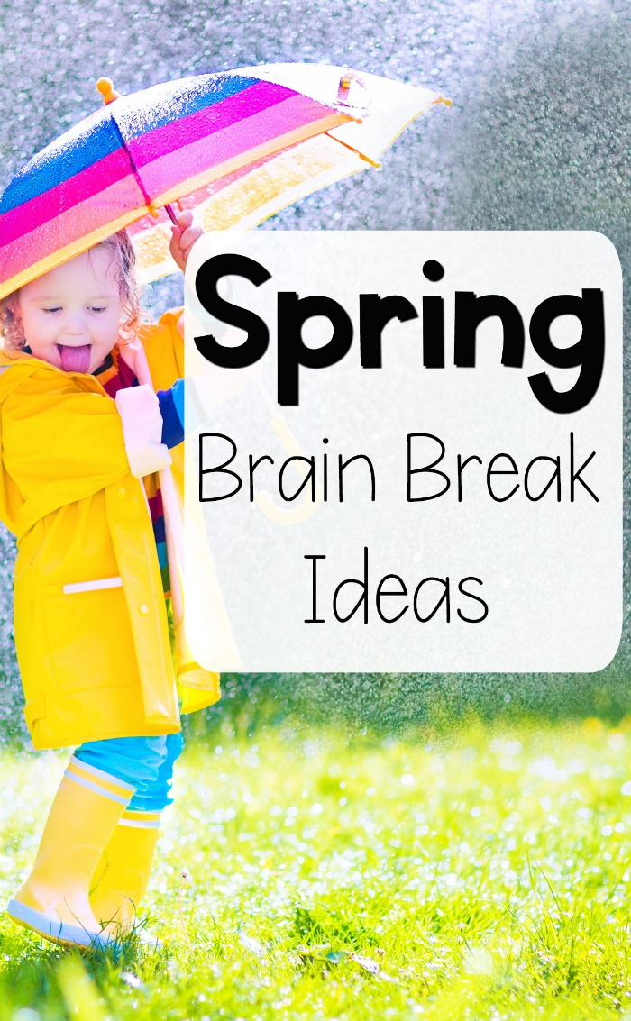 spring themed brain breaks and gross motor ideas | pink oatmeal